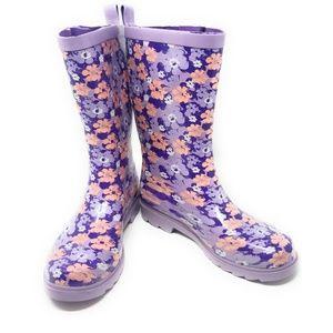 Women's Rubber Mid Calf Rain Boots, #3156, Purple
